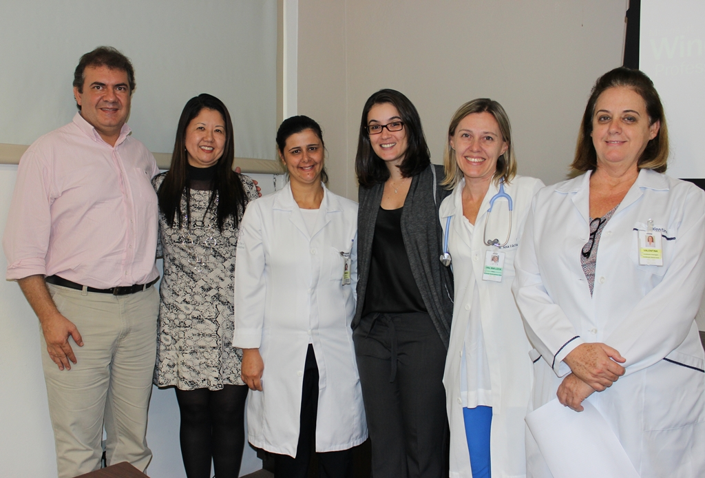 Edson e Marlice (Mundipharma), Enfermeira Fabiana, Enfermeira Francielle, Dra. Ana Lucia e Enfermeira Valentina Bonilha