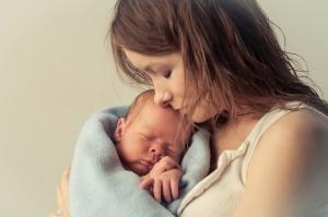 Mãe com câncer e bebê