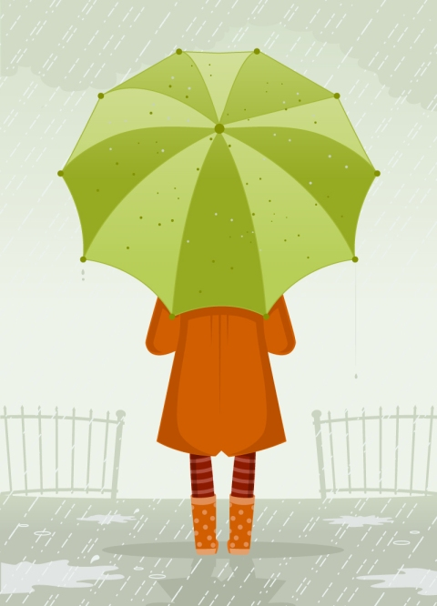 Dia de chuva - luto